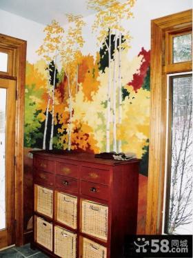 玄关家庭壁画图片欣赏