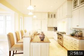 欧式开放式小厨房吊顶装修效果图大全2013图片