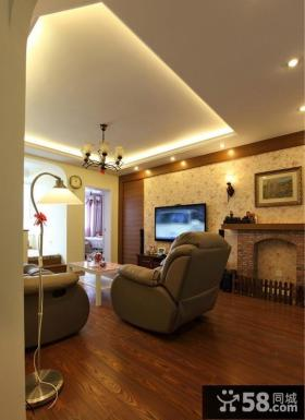 客厅电视墙装修效果图大全2013图