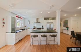 美式风格厨房样板间装修效果图