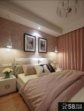 美式风格80平小户型卧室装修效果图2014