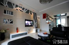 简约设计客厅电视背景墙案例
