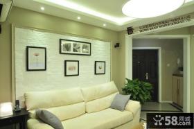 简约三居室客厅装饰画效果图