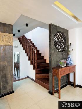 古典中式家居室内水泥隔断设计