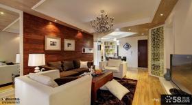 现代风客厅沙发背景墙效果图