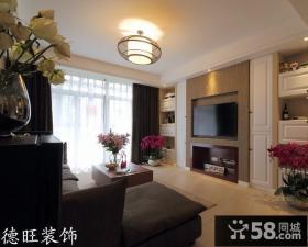 客厅木质电视背景墙装饰效果图片