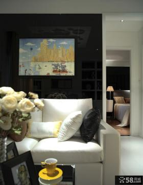 现代客厅沙发背景墙装饰画图片大全