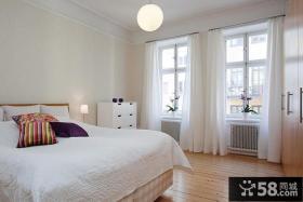 美式简约小户型卧室装饰效果图