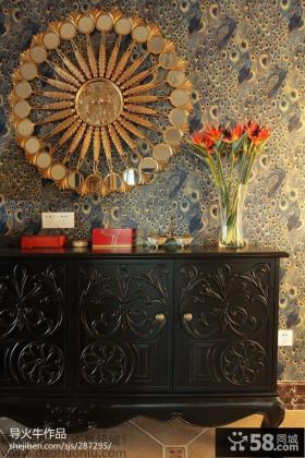 美式风格玄关装饰柜图片