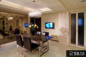 简约风格两居室餐厅装修图片
