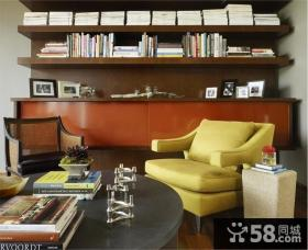 27万打造奢华欧式风格复式书房博古架装修效果图大全2012图片