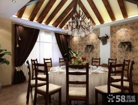 房屋装修餐厅吊顶效果图