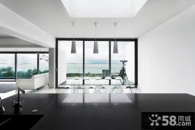 极简的白色现代风格客厅装修效果图大全2012图片