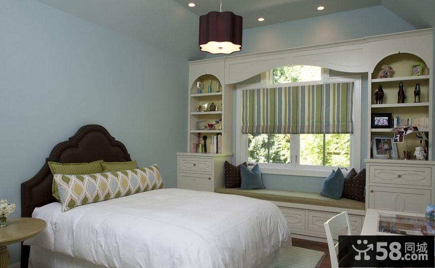 卧室带飘窗装修效果图大全2015图片