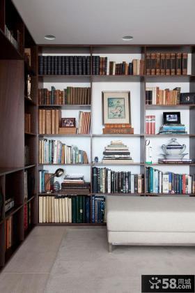 复式仿古地中海风格书房装修效果图大全