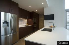 简约家庭装修厨房整体橱柜装修效果图