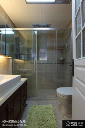2013卫生间玻璃门隔断图片