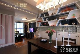 9万打造浪漫简约风格餐厅厨房架装修效果图大全2014图片