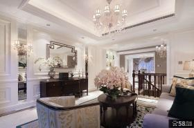 新古典风格豪华别墅家装客厅设计效果图