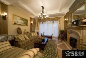 美式新古典风格客厅装修图片