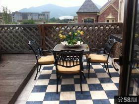 田园复式阳台装修设计图片