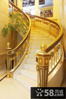 欧式风格楼梯扶手装饰图片