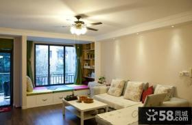 日式家庭设计客厅飘窗图片