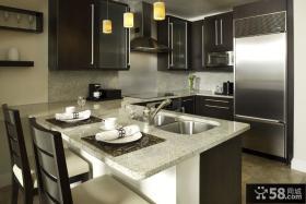 欧式现代厨房整体橱柜装修效果图大全2013图片