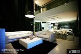 优质复式客厅装修效果图大全2013图片