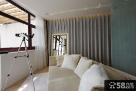 室内阳台窗帘装修效果图大全图片