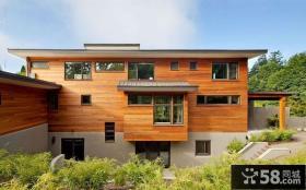 美式现代风格别墅建筑图片