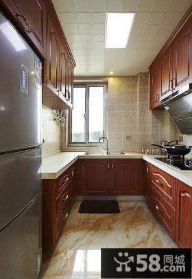 欧式风格70平米小户型厨房橱柜效果图