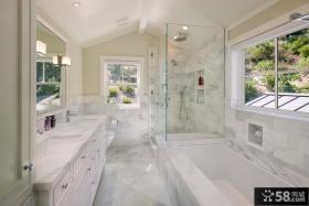 美式乡村风格卫生间装修设计图片