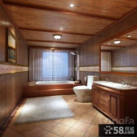 美式别墅卫生间装修设计图