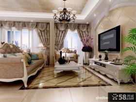 欧式奢华的别墅图片大全 客厅装修效果图
