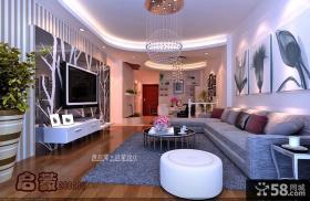两房两厅现代客厅电视背景墙装修效果图大全2012图片