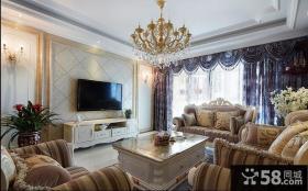 欧式风格客厅电视背景墙装饰效果图