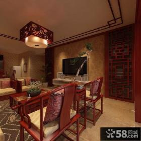 中式风格客厅电视背景墙图片
