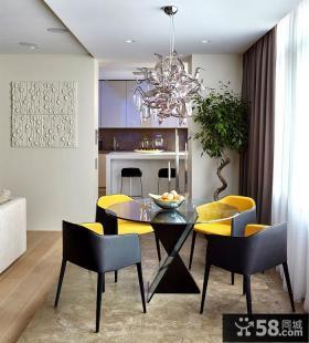 莫斯科现代风格住宅餐厅设计