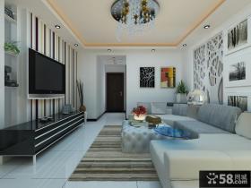 现代简约客厅吊顶玄关装修效果图