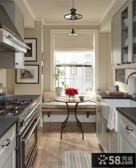 现代北欧设计厨房飘窗效果图