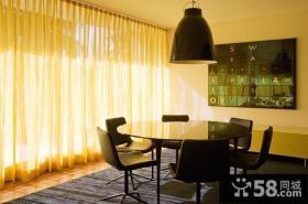 现代时尚的联排别墅餐厅窗帘装修效果图