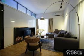 现代二居客厅电视柜效果图大全