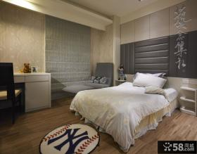 暗调现代风格次卧室室内设计图片