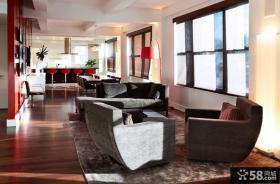 现代简约风格家具客厅图片