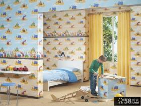 儿童房装修效果图大全2012图片 儿童房背景墙装修效果图