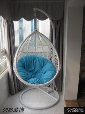 欧式风格阳台吊椅图片