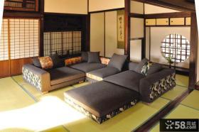 日式小户型客厅榻榻米装修效果图