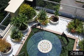 宜家休闲区阳台花园设计