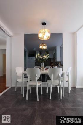 简约风格两室两厅装修餐厅效果图